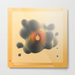 Only You Can Start Forest Fires. With Oil. Metal Print