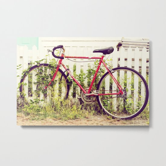 Ivy Bike Metal Print