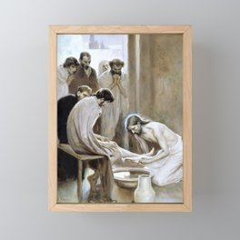 Albert Edelfelt - Jesus Washing the Feet of his Disciples - Digital Remastered Edition Framed Mini Art Print