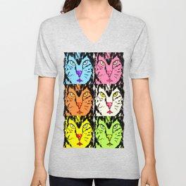 colorful cats  Unisex V-Neck
