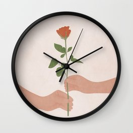 A Rose for You Wall Clock