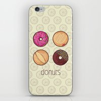 donuts iPhone & iPod Skins featuring Donuts by Monstruonauta