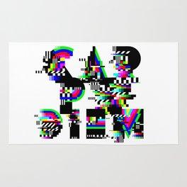 Carpe Diem #typography #lettering #glitchart #buyart #society6 Rug