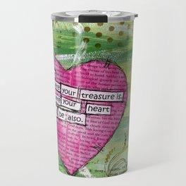 Heart Treasure, Mixed Media by Deborah Halcomb aka Daytona Damsel Travel Mug