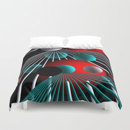 lines of flight -bb- Duvet Cover