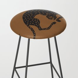 Blockprint Cheetah Bar Stool