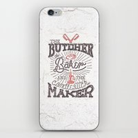 butcher billy iPhone & iPod Skins featuring The Butcher by Pilgrim