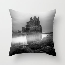 Gothic in Grey Throw Pillow