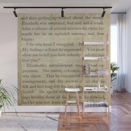 Pride and Prejudice  Vintage Mr. Darcy Proposal by Jane Austen   Wall Mural