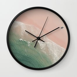 Life is peachy at the beach Wall Clock