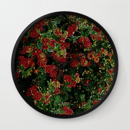 Electrical floral print 1 Wall Clock