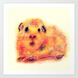 Pip - Abstract Watercolor Guinea Pig Art Print
