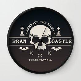 Gamer Geeky Chic Castlevania Inspired Bran Castle Transylvania Vampire Night Wall Clock
