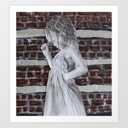 A Certain Shade of Red Brick Art Print