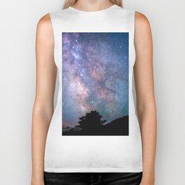 The Night Sky II - glowing stars Biker Tank