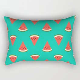 watermelon fruit food fight apparel and gifts teal Rectangular Pillow