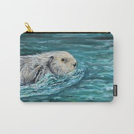 Ooh Goody Lunchtime Sea Otter Painting Carry-All Pouch