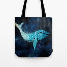 whale in space Tote Bag