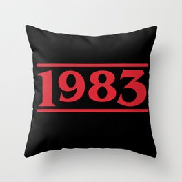 Strange 1983 Throw Pillow