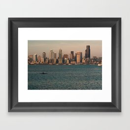 Kakayers in the Puget Sound Near Seattle Framed Art Print