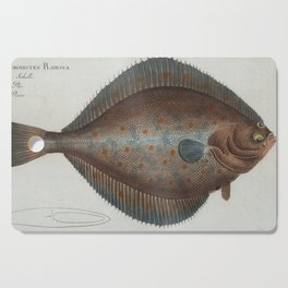 Vintage Illustration of a Flounder Fish (1785) Cutting Board