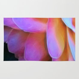 Large Pink Flower Soft Petals Rug