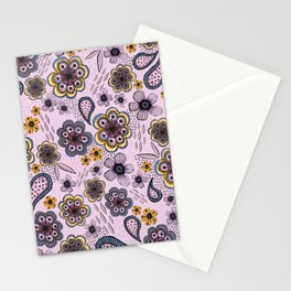 Floral paisley pattern, flowers and paisley surface pattern Stationery Cards