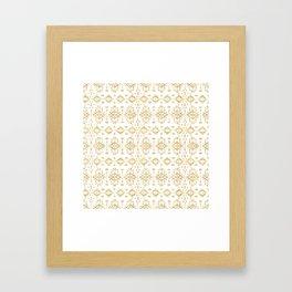 Luxury gold geometric tribal Aztec pattern Framed Art Print