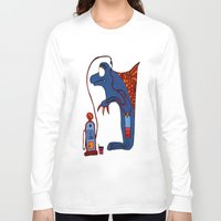 dolphin Long Sleeve T-shirts featuring Dolphin by JBLITTLEMONSTERS