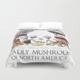 Deadly Mushrooms of North America Duvet Cover