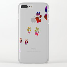 Paw Cat Clear iPhone Case