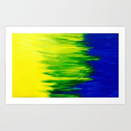 Spring Breeze Abstraction  Art Print