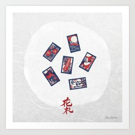 Playing Card Game / Hanafuda (花札) Art Print