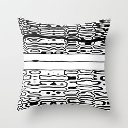 mystery zip Throw Pillow