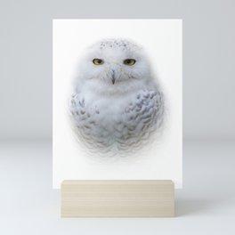 Dreamy Encounter with a Serene Snowy Owl Mini Art Print