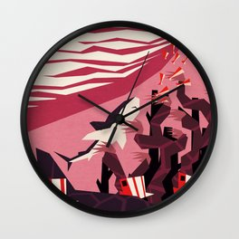 The daily commute Wall Clock