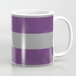 Purple & Grey Stripes | Digital Design | Pattern Coffee Mug