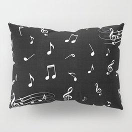 Music White and Black Pillow Sham
