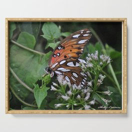 Colorful Butterfly in the Springtime Serving Tray
