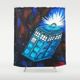 Mobile Phone Shower Curtain