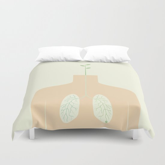INHALE Duvet Cover