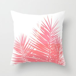 Plant Life in Pink Throw Pillow