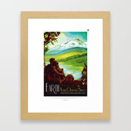 Earth - Your Oasis in Space Framed Art Print