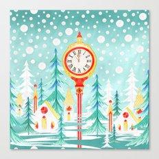 Christmas clock Canvas Print