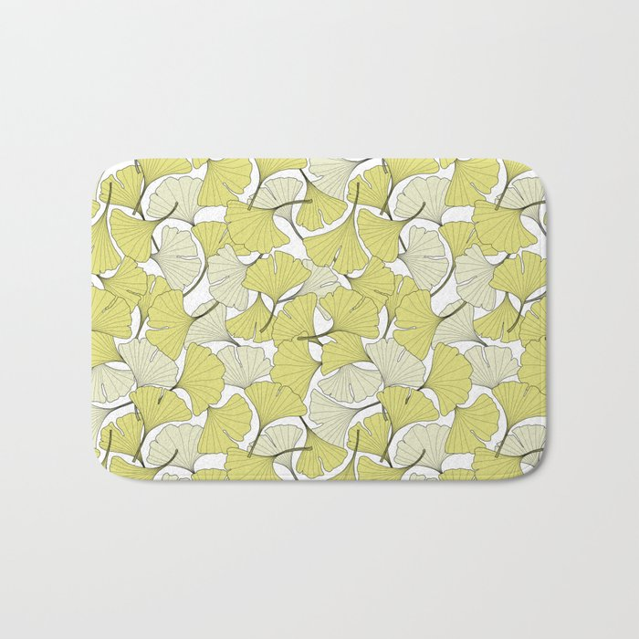 ginkgo leaves (special edition) Bath Mat