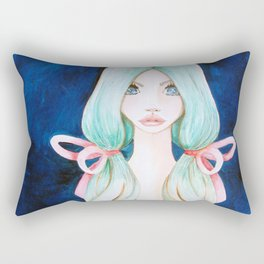 Ethereal Blue Rectangular Pillow
