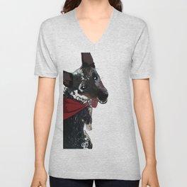 Adorable Dog Wrigley Unisex V-Neck