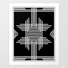 Tribal Black & White Art Print