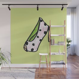 high heel -polka dot- Wall Mural