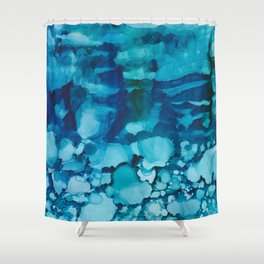 Caught in the wave Shower Curtain